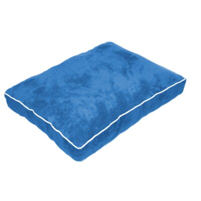 Cuddly Plush Dog Bed Size: 40 L x 30 W, Color: Blue
