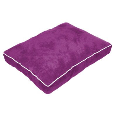 Cuddly Plush Dog Bed Size: 34 L x 26 W, Color: Purple