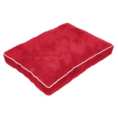 Cuddly Plush Dog Bed Size: 26 L x 20 W, Color: Red