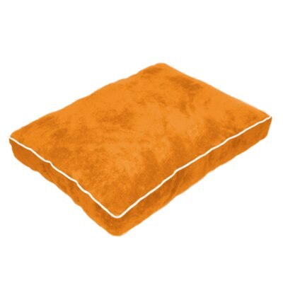 Cuddly Plush Dog Bed Size: 40 L x 30 W, Color: Orange