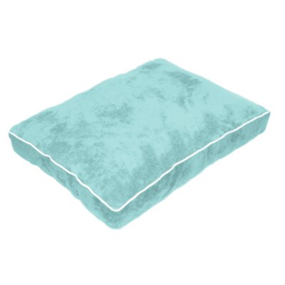 Cuddly Plush Dog Bed Size: 40 L x 30 W, Color: Teal