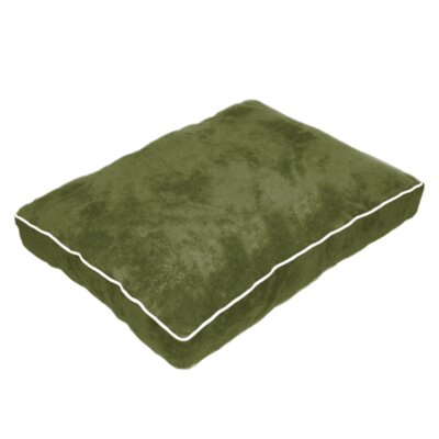 Cuddly Plush Dog Bed Size: 26 L x 20 W, Color: Dark Green