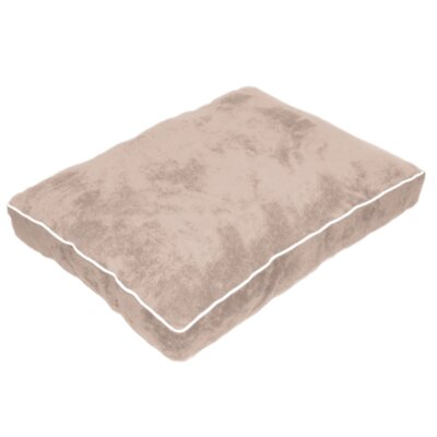 Cuddly Plush Dog Bed Size: 40 L x 30 W, Color: Tan