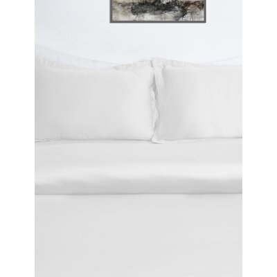 3 Piece Duvet Cover Set Color: White, Size: Queen