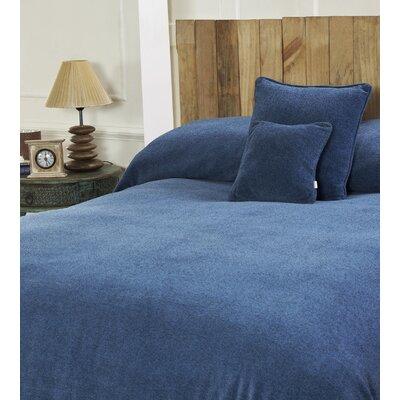 Melange Chenille Bed Coverlet Color: Wave Blue, Size: King