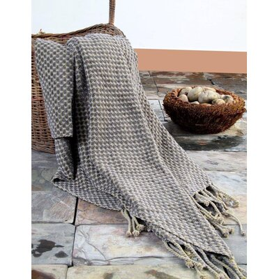 Structured Dots Throw Color: Pewter