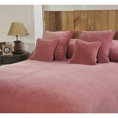 Melange Chenille Bed Coverlet Color: Pink Blossom, Size: Full/Queen