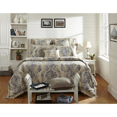 Dandy Damask 3 Piece Duvet Cover Set Size: King