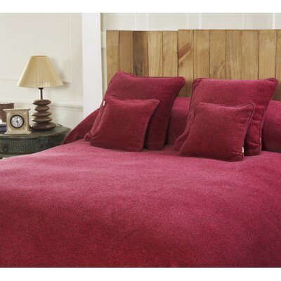 Melange Chenille Bed Coverlet Size: Twin, Color: Passion
