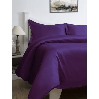 3 Piece Duvet Cover Set Size: King, Color: Majestic Violet