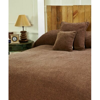 Melange Chenille Bed Coverlet Size: Twin, Color: Almondine Black