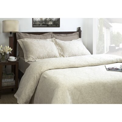 Berkley Jacquard 3 Piece Duvet Cover Set Size: King