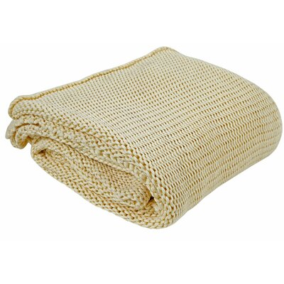 Craft Cord 100% Cotton Throw Color: Off White