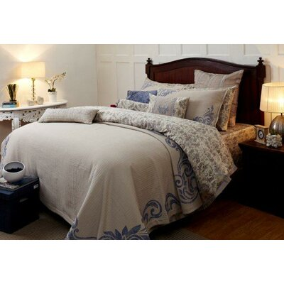 Royal Insignia Duvet Cover Size: Queen, Color: Blue