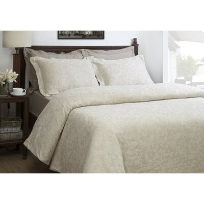 Barque Jacquard 3 Piece Duvet Cover Set Size: Queen