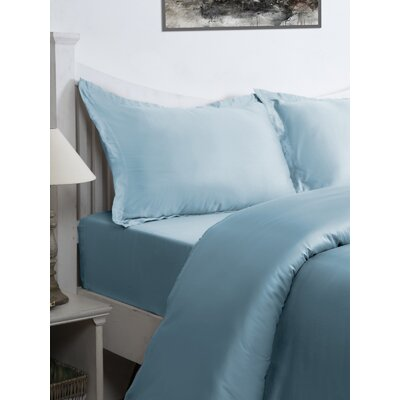 3 Piece Duvet Cover Set Color: Ascot Aqua, Size: Queen
