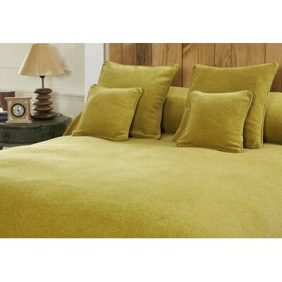 Melange Chenille Bed Coverlet Size: Twin, Color: Acid Yellow