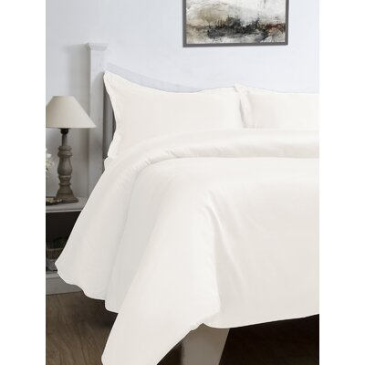 3 Piece Duvet Cover Set Color: Vanilla, Size: Queen