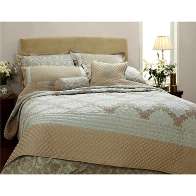 Quint Damask Stripical Mismash Duvet Cover Size: King