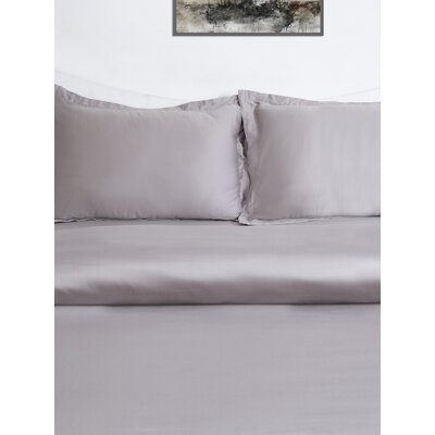 3 Piece Duvet Cover Set Size: King, Color: Grey Marble