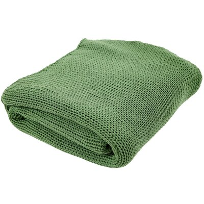Craft Cord 100% Cotton Throw Color: Nile Green