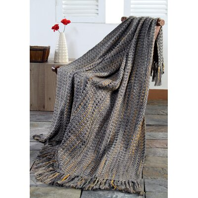 Peep Slub Throw Color: Grey Marble