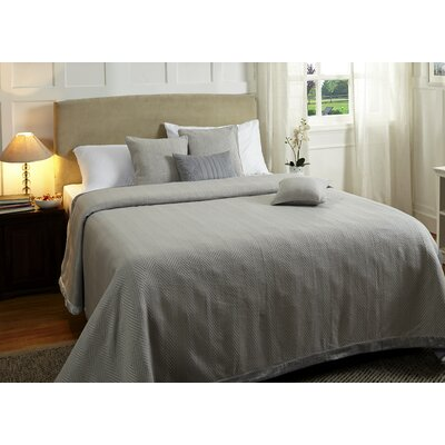 Lofty Herringbone Duvet Cover Color: Blue, Size: King