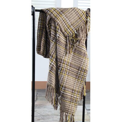 Placard Plaid 100% Cotton Throw Color: Chinchilla