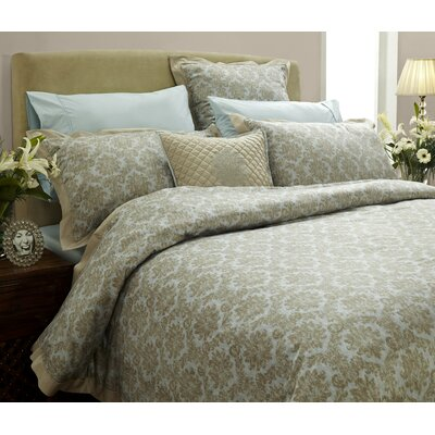 Quint Damask 3 Piece Duvet Cover Set Size: Queen