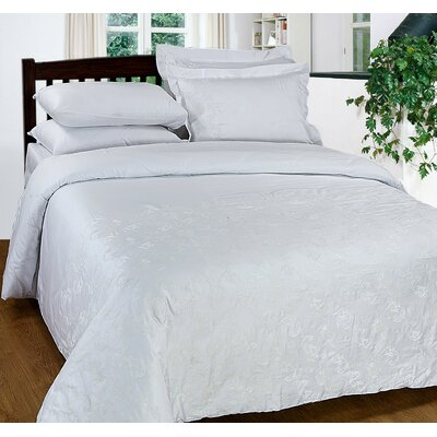 3 Piece Duvet Cover Set Size: King, Color: White