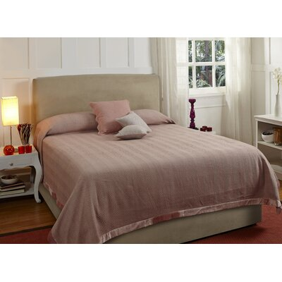 Lofty Herringbone Duvet Cover Size: Queen, Color: Pink