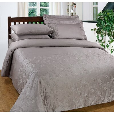 3 Piece Duvet Cover Set Size: Queen, Color: Grey Marble