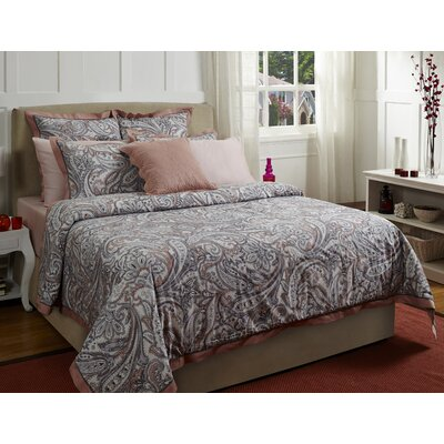Paisley 3 Piece Duvet Cover Set Color: Pink, Size: King