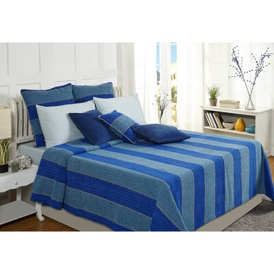 Optical Harmony Duvet Cover Color: Blue, Size: King