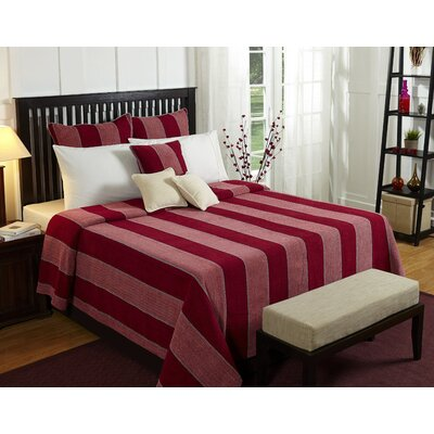 Optical Harmony Duvet Cover Size: King, Color: Red