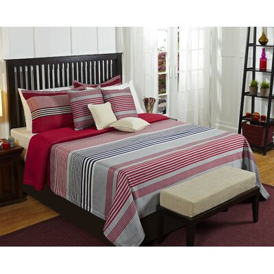 Stripical Mismash Duvet Cover Size: King