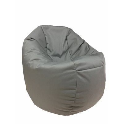 Indoor/Outdoor Bean Bag Chair Upholstery: Gray
