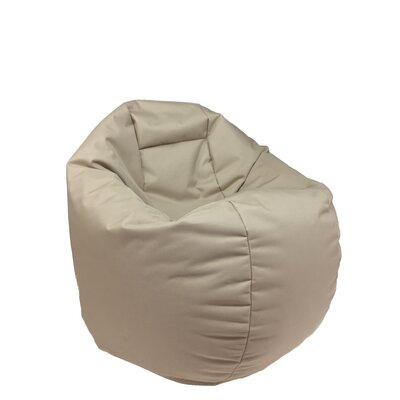 Indoor/Outdoor Bean Bag Chair Upholstery: Tan