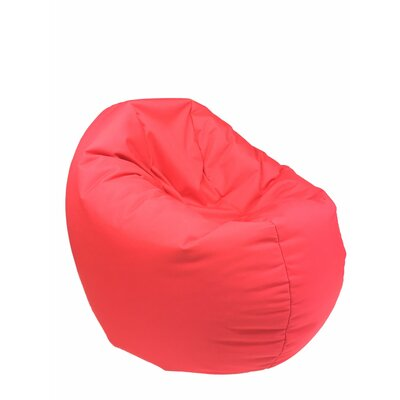 Indoor/Outdoor Bean Bag Chair Upholstery: Red