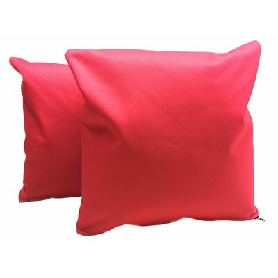 Indoor/Outdoor Throw Pillow Color: Red
