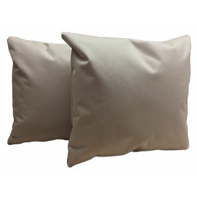 Indoor/Outdoor Throw Pillow Color: Tan