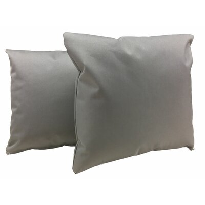 Indoor/Outdoor Throw Pillow Color: Gray
