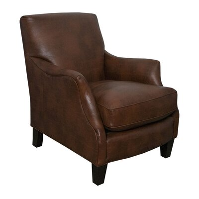 Emily Brown Bonded Leather Club Chair