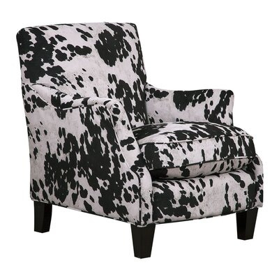 Emily Cow Black Armchair