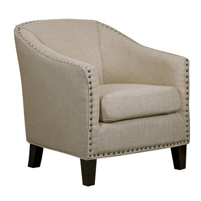 Grace White Linen Barrel Chair
