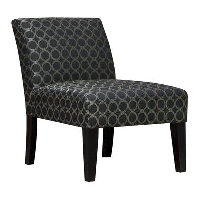 Graphite Circles Armless Living Room Slipper Chair