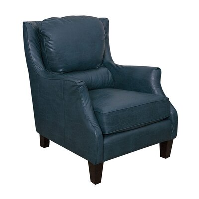 Ross Bonded Club Chair Upholstery: Peacock