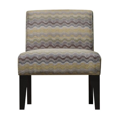 Slipper Chair Upholstery: Gray Yellow/Brown