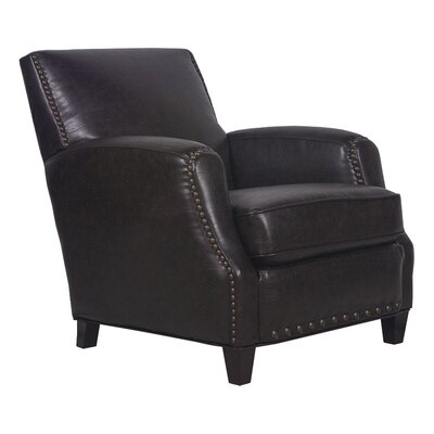 Sarah Marco Bonded Leather Club Chair Color: Dark Brown