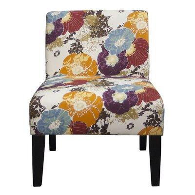 Slipper Chair Upholstery: Floral Graffiti